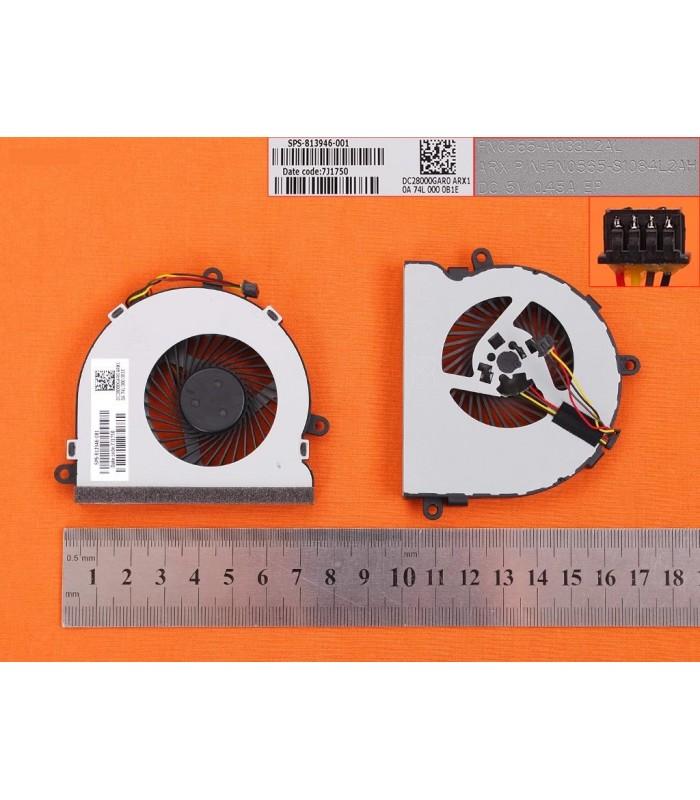 HP 14-R008TX 15-AC121DX 15-AC067TX 15-AF 15-AY 15-BS 14-R020 TPN-C116 250G4 255G4 Fan